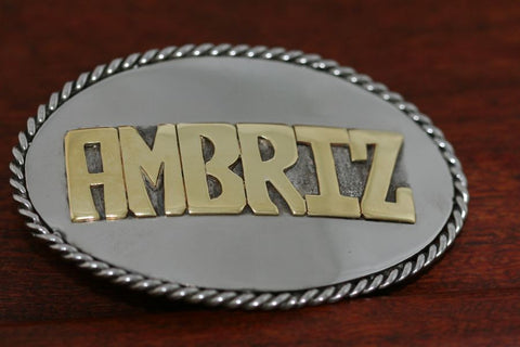 Personalized Buckle in Stainless Steel