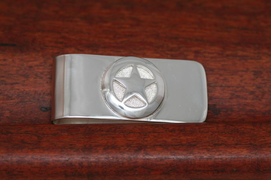 Quarter Star on Money Clip