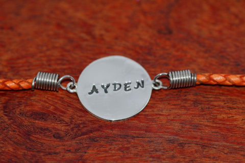 Stamped Bracelet in Sterling