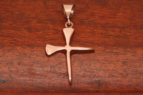Spike Cross Pendant in Copper - Medium