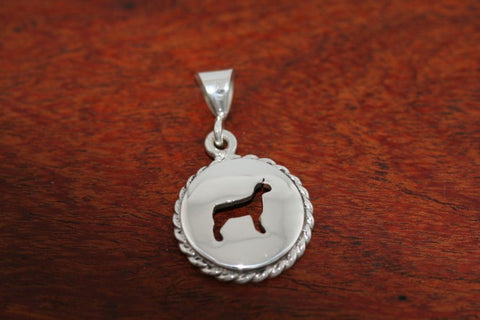 Small Goat Disc with Rope Trim -Pendant