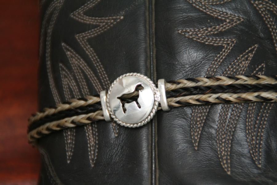 Small Goat Disc with Rope Trim -Charm on a Boot Bracelet