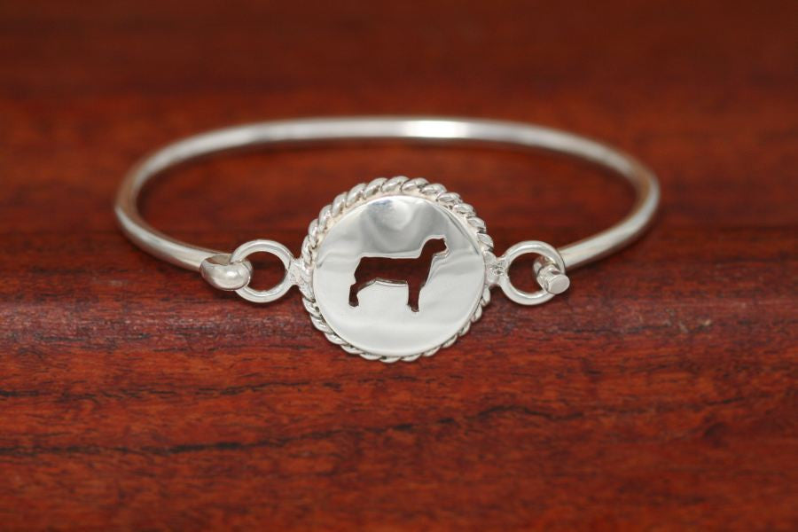 Small Lamb Disc with Rope Trim -Charm on a Bangle Bracelet