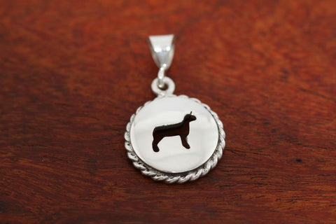 Small Lamb Disc with Rope Trim -Pendant