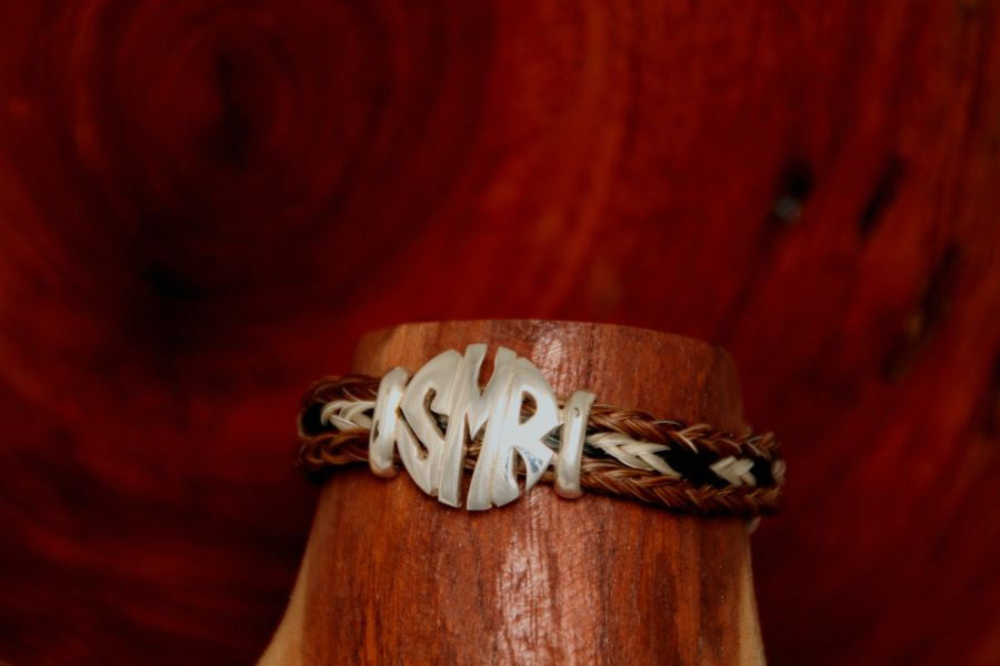 Small Monogram Charm on a Casual Upscale Bracelet