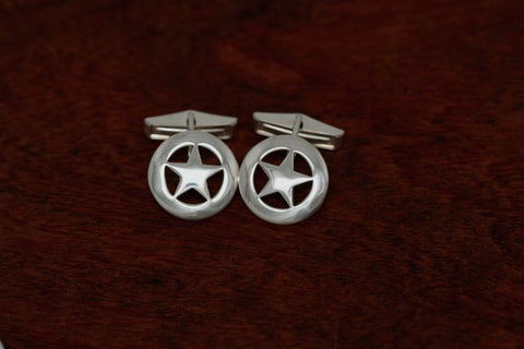 Small Texas Star Cuff Links