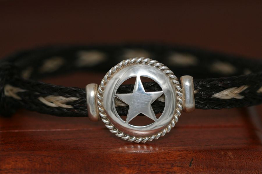 Small Star with Rope Trim on Endless Bracelet
