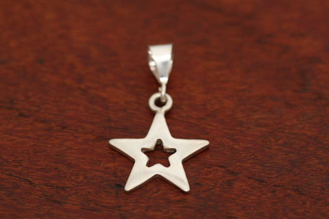 Small Star in Star Pendant in Sterling