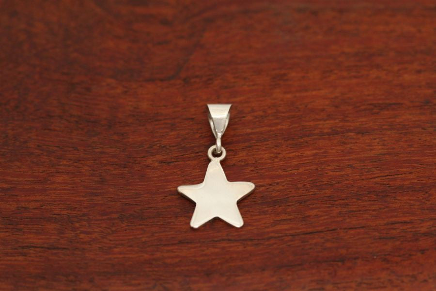 Small Shooting Star Pendant in Sterling