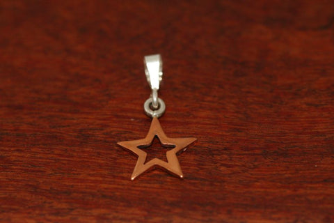 Small Star in Star Pendant in Copper