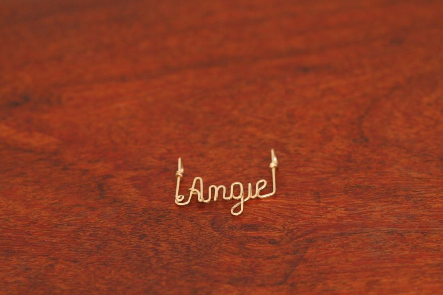 Small Wire Name Pendant-Gold-Filled
