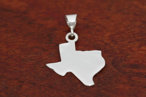Texas Map Pendant in Sterling- Extra Large