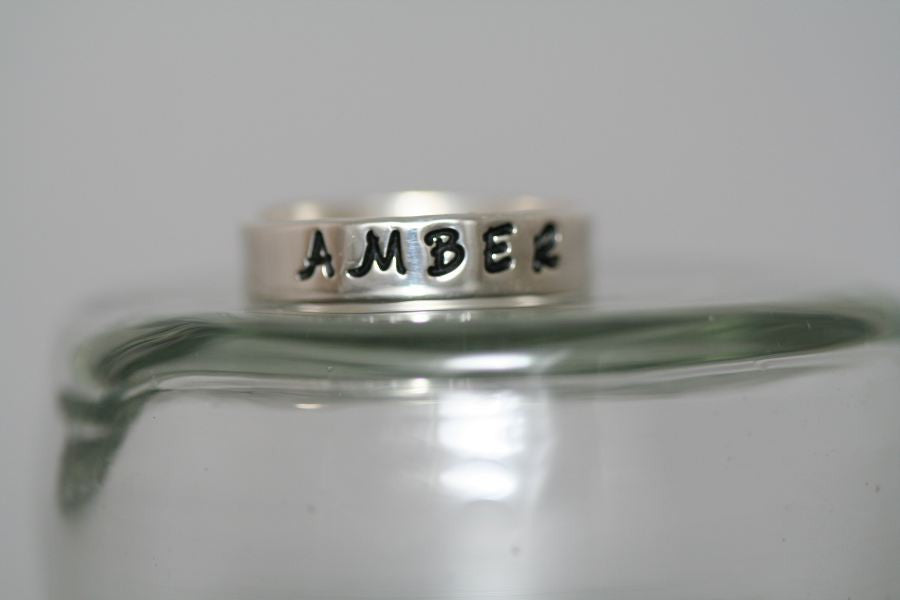 Wedding Band Ring in Sterling-Stamped
