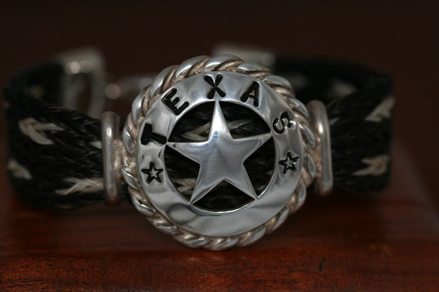 Walking Lady Star with Rope Trim on a Casual Upscale Bracelet