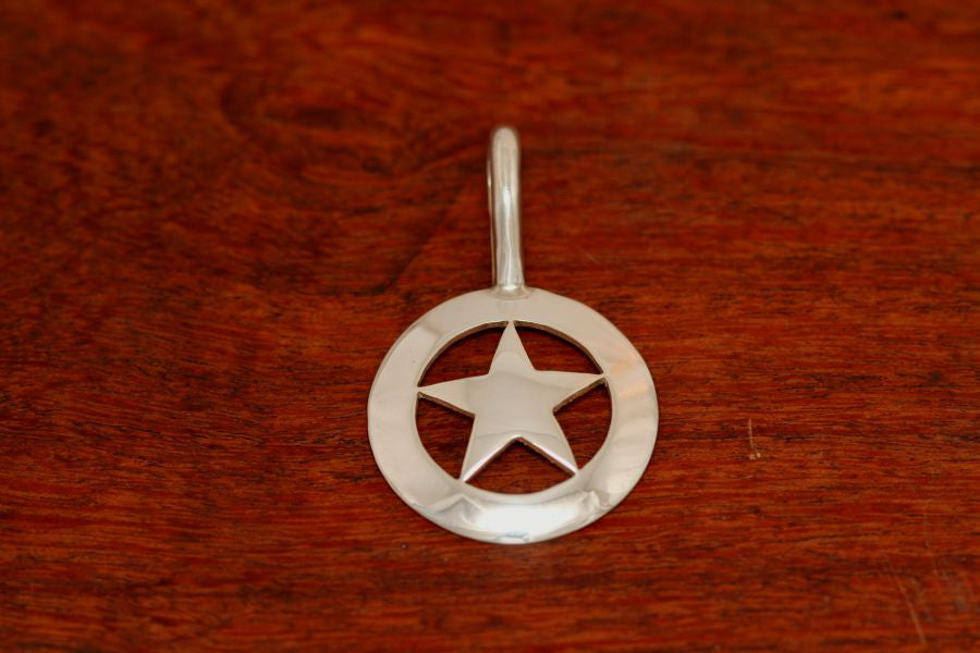 Walking Lady Star Pendant