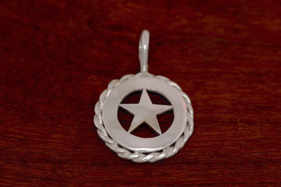Walking Lady Star Pendant with Rope Trim