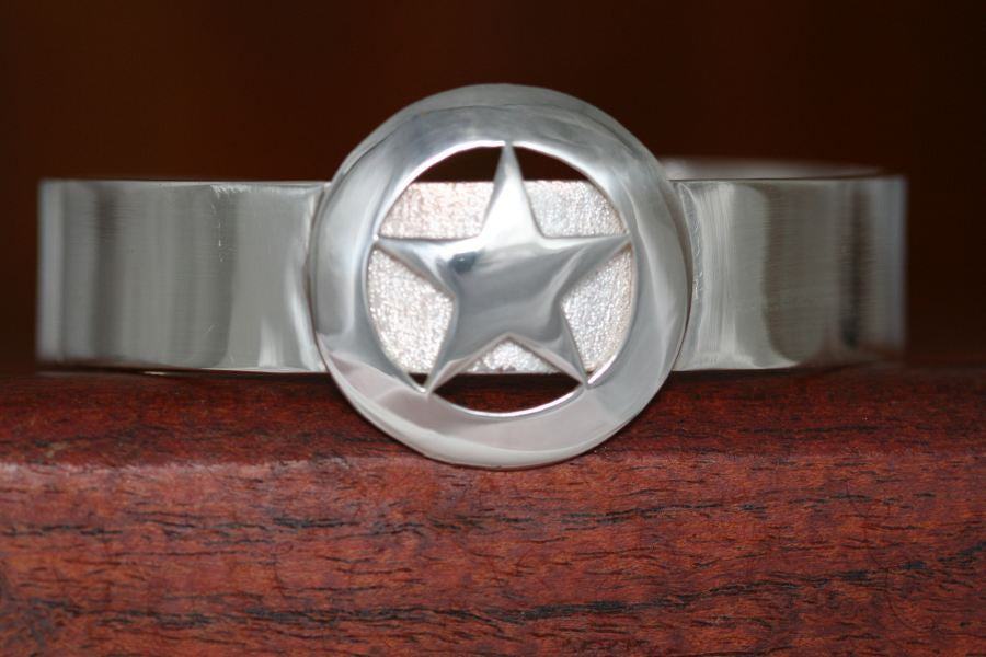 Walking Lady Star on a Small Cuff Bracelet-Plain