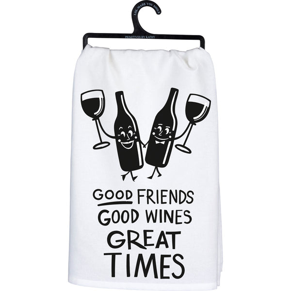 Dish Towel - Good Friends Good Wines Great Times