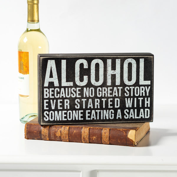 Box Sign - Alcohol