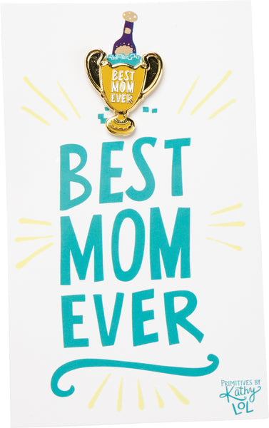 Enamel Pin - Best Mom Ever Champagne