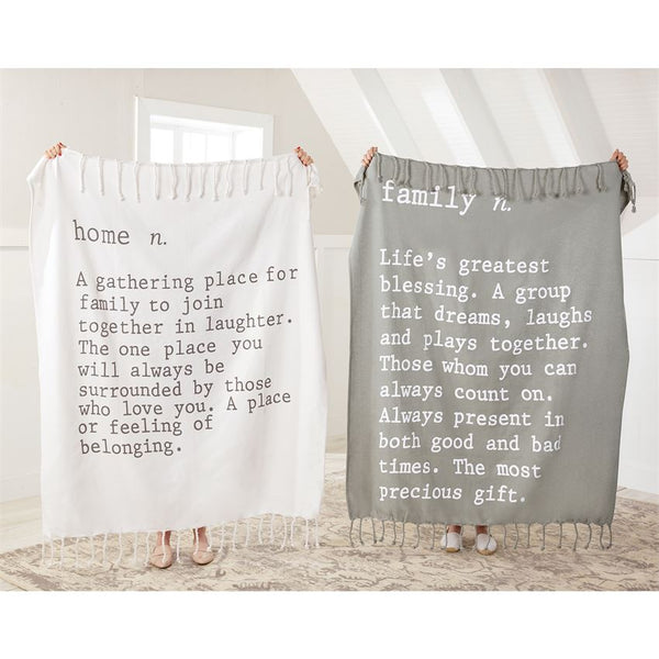 Blanket - Gray & White Family & Home Definitions