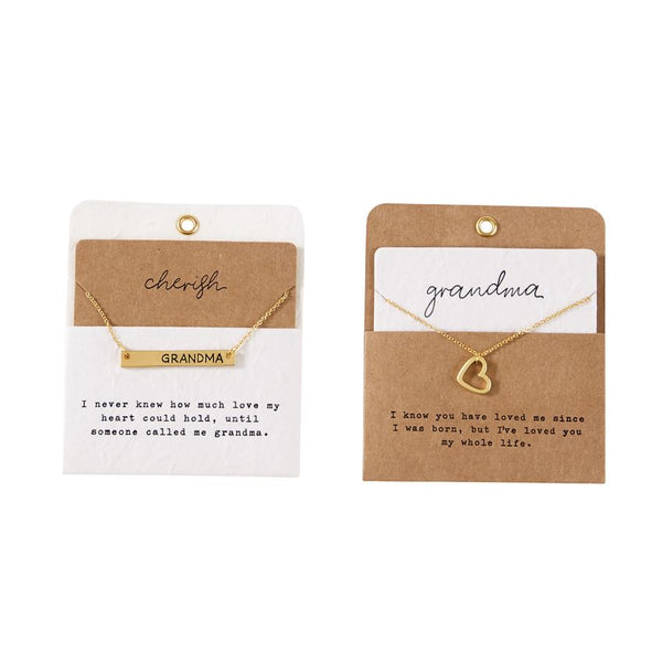 Necklace - Gold Charm Grandma