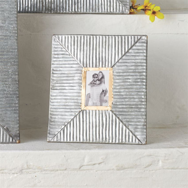 Frame - Small Ribbed Galvanized Tin