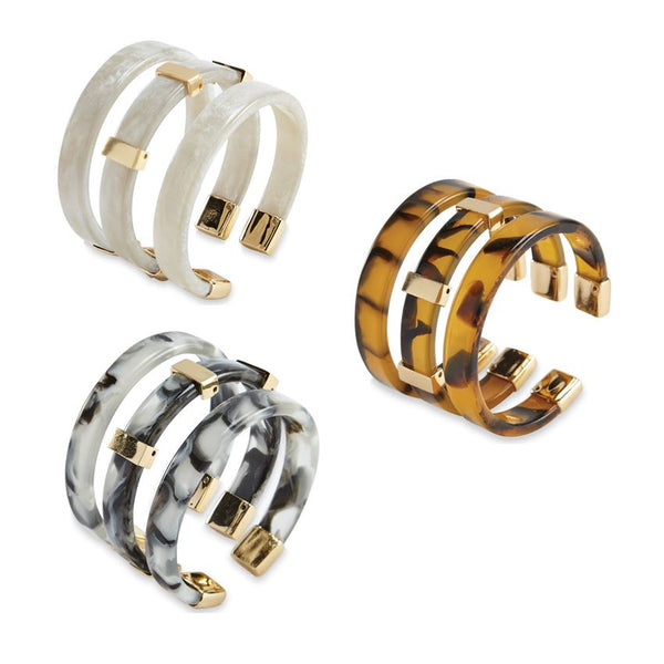 Bracelet Set - Resin Cuffs