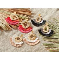 Earrings - Rattan Tassel