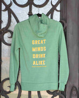 Unisex Green and Gold Great Minds Drink Alike A's-Themed Zip Up Sweatshirt