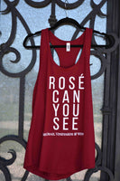 "Women's Red ""Rose Can You See"" McGrail Vineyards Racerback Tank"