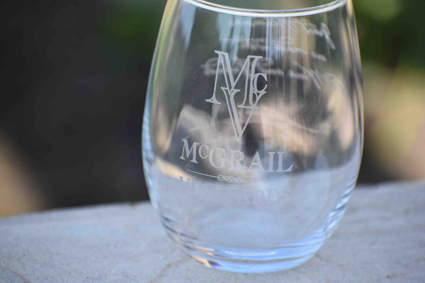 Stemless Wine Glass - McGrail Logo