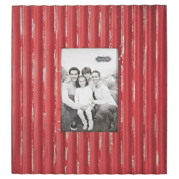 Frame - Large Red Ribbed Galvanized Tin