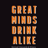 Unisex Black and Orange Great Minds Drink Alike Giants-Themed Zip Up Sweatshirt