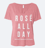 "Women's Coral ""Rose All Day"" Tee"