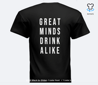 Unisex Black Great Minds Drink Alike Logo Tee