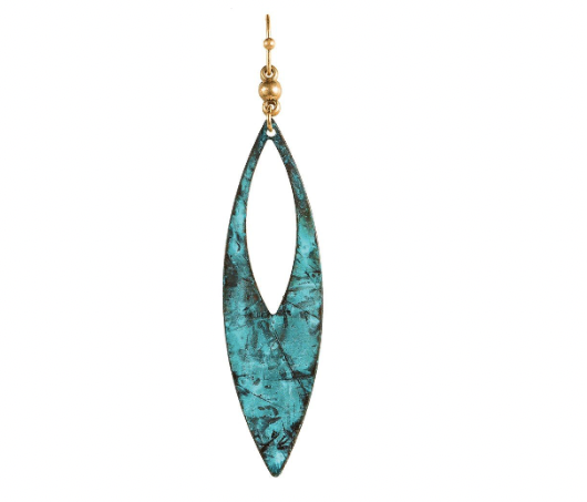 Earrings - Patina Long Pointed Drop