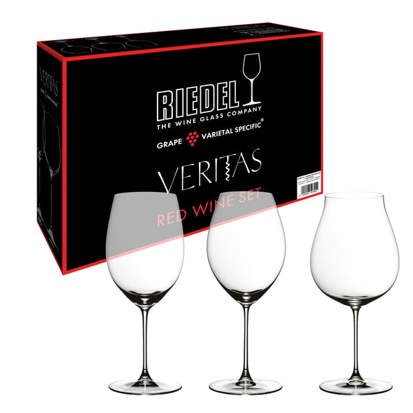 Riedel Veritas Varietal Specific Set of 4 Glasses - Cabernet/Merlot, Riesling/Zinfandel, Old World Pinot Noir, & Chardonnay