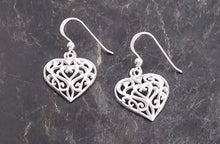 Load image into Gallery viewer, sterling silver heart earring