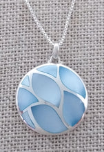 Load image into Gallery viewer, sterling silver necklace with inlaid blue stones