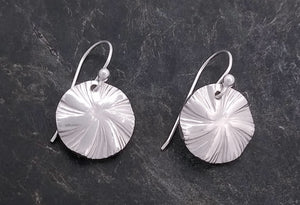 Laurie Schutt Sterling Swirl Drop Earring
