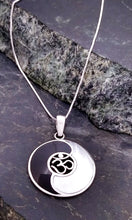 Load image into Gallery viewer, Sterling Silver Yin Yang Pendant with Abalone or Onyx