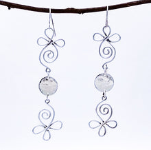 Load image into Gallery viewer, Long Handmade Sterling Earrings