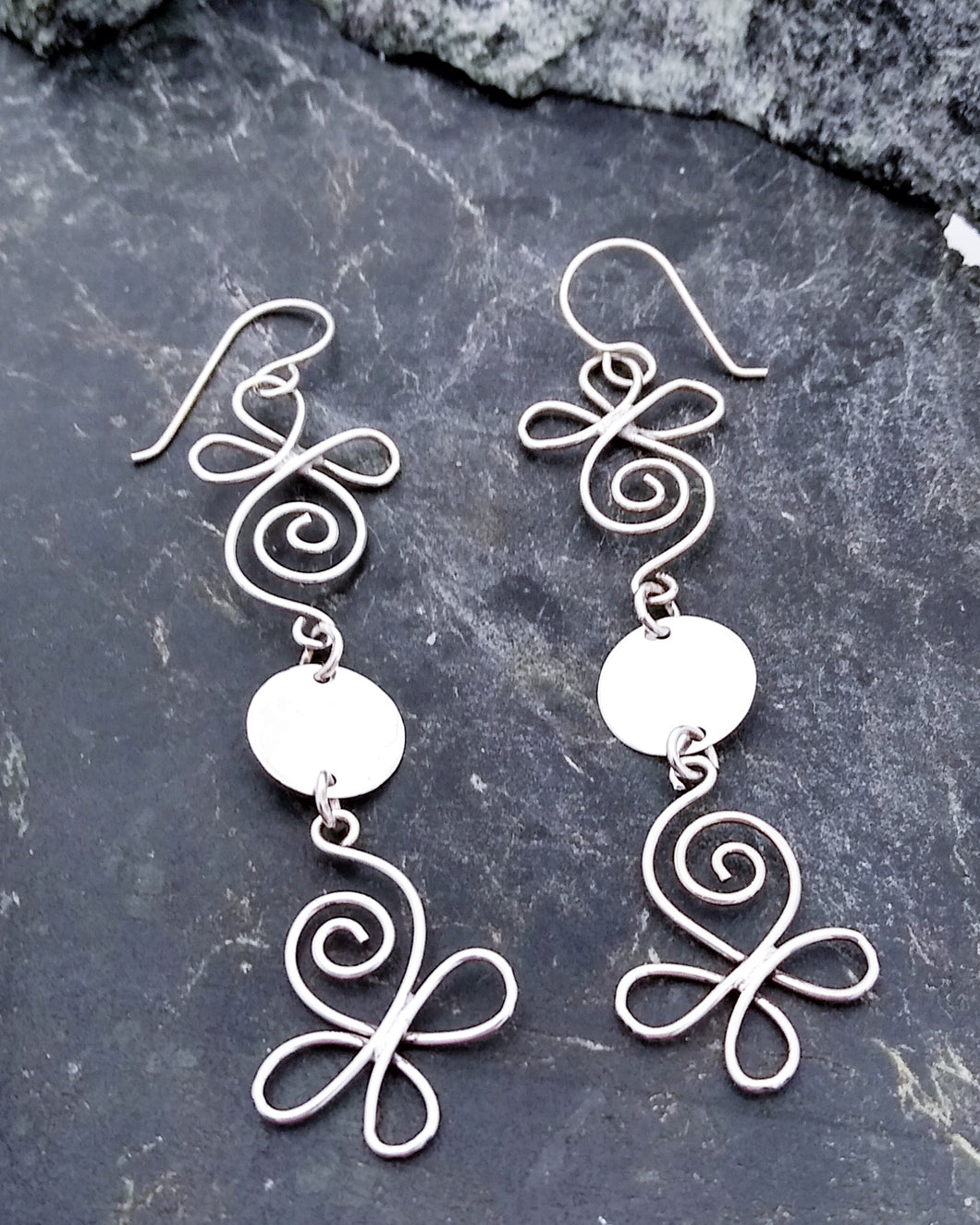 Long Handmade Sterling Earrings