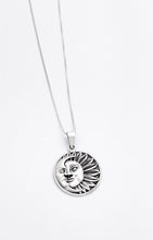 Load image into Gallery viewer, Sterling Silver Sun and Moon Pendant