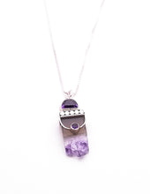 Load image into Gallery viewer, Sterling Silver and Amethyst Geode Pendant