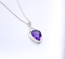 Load image into Gallery viewer, Sterling Silver Pendant with Large Amethyst