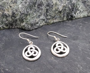 Sterling Silver Round Celtic Knot Earrings