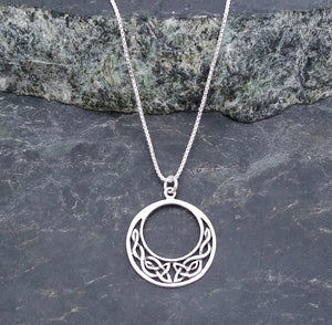 Sterling Silver Cut Out Celtic Knot Pendant