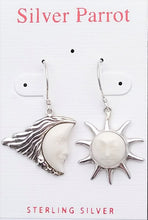 Load image into Gallery viewer, Sterling Earrings Moon and Star Earrings